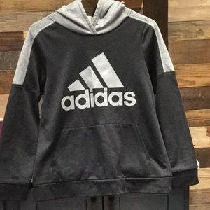 Black and grey adidas hoodie